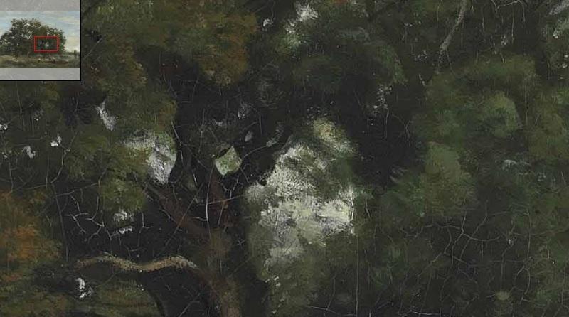 corot il cielo tra gli alberi
