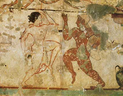 etruschi tomba delle leonesse tarquinia