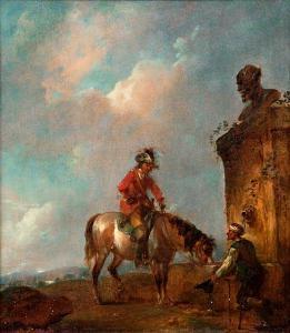 Francesco Casanova, Sosta di un cavaliere presso una fontana