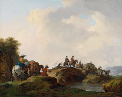 Francesco Casanova, Viaggiatori in paesaggio invernale