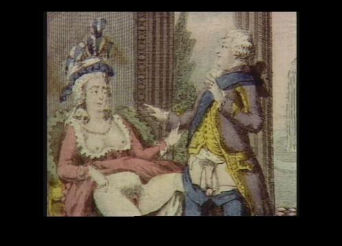 Un'incisione settecentesca rappresenta l'impotenza presunta del re Lugi XVI