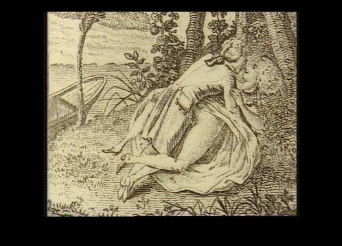 Una delle illustrazioni d'epoca del libro Vita scandalosa di Maria Antonietta