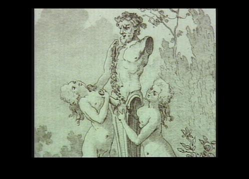 Maria Antonietta e un'amica adorano la statua d Priapo