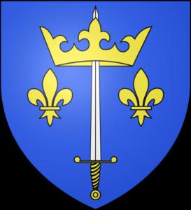 A Giovanna d'Arco fu riconosciuto un titolo nobiliare: la spada che sorregge la corona, accanto ai gigli della monarchia francese