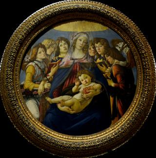 Sandro Botticelli, Madonna della melagrana, 1487, tempera su tavola, 143,5×143,5 cm