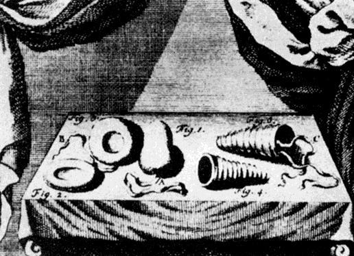 Preservativi nella tavola di un libro di Medicina del 1755