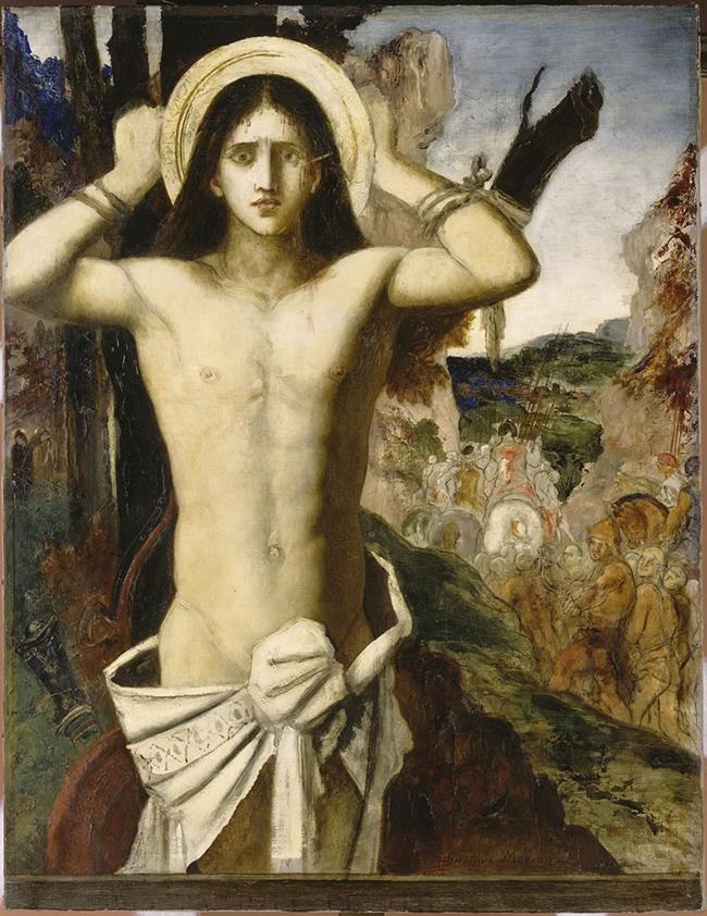 San Sebastiano Gustave Moreau (Parigi 1826-1898), 1870-1875 o 1890 circa, olio su tela, cm 115 x 90. Parigi, Musée Gustave Moreau, inv. 214. Foto © RMN-Grand Palais /René-Gabriel Ojéda