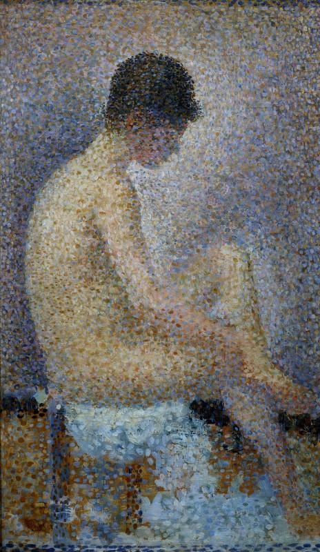 Georges Seurat, Poseuse de profil, 1887, olio su tavola. Musée d'Orsay, Parigi