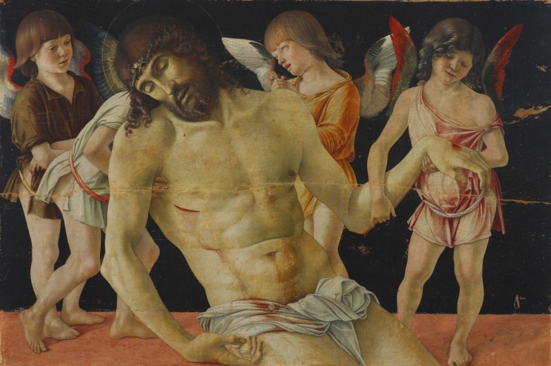 Giovanni Bellini, Pietà, secolo XV, tempera su tavola. Museo della Città, Rimini