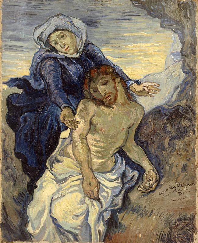 Pietà Vincent van Gogh (Groot Zundert 1835-Auvers-sur-Oise 1890), (da Delacroix) 1889 circa, olio su tela, cm 41,5x34. Città del Vaticano, Musei Vaticani, inv. 23698. Foto © Governatorato dello Stato della Città del Vaticano-Direzione dei Musei