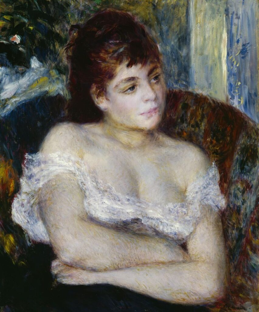 Pierre Auguste Renoir Donna in poltrona, 1874 Olio su tela, 61 × 50,5 cm Detroit Institute of Arts, Bequest of Mrs. Allan Shelden III (1985.24)