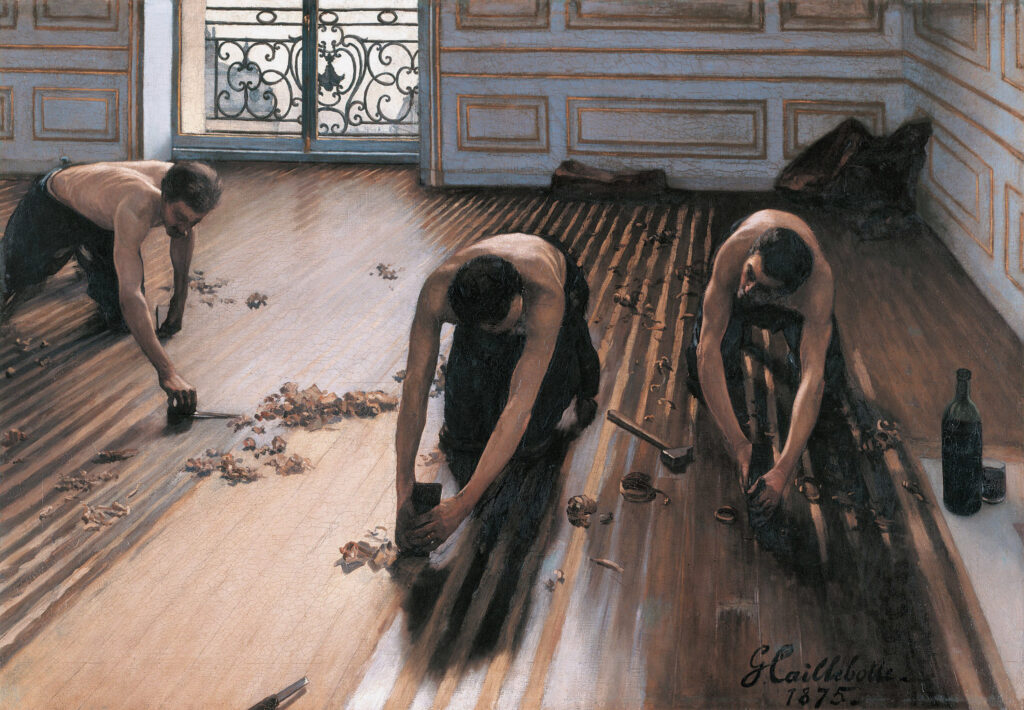 The Floor Scrapers *oil on canvas *102 x 146,5 cm *signed b.r.: GCaillebotte. / 1875.