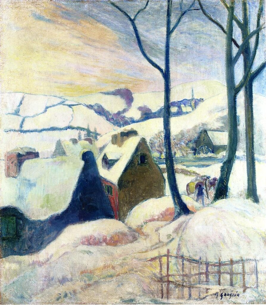 Paul Gauguin, Villaggio sotto la neve, 1894