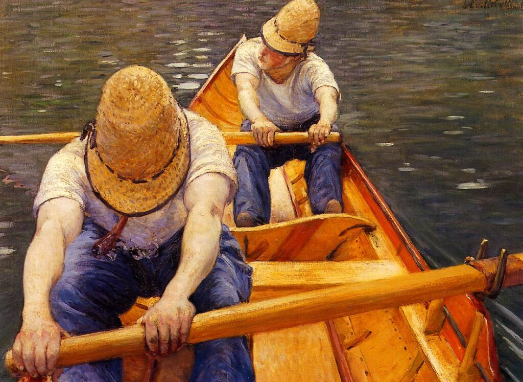 Gustave Caillebotte Canottaggio sul Yerres, 1877