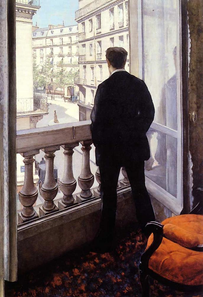 Gustave Caillebotte, Giovane alla finestra, (1876)