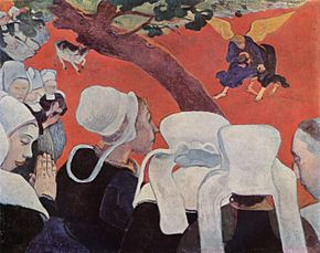 Paul Gauguin, La visione dopo il sermone, olio su tela, 73x92 cm, 1888