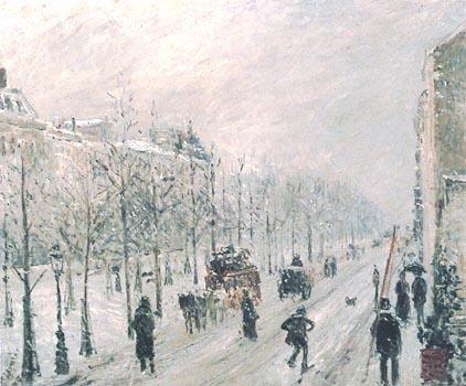 Pissarro-Boulevard sotto la neve