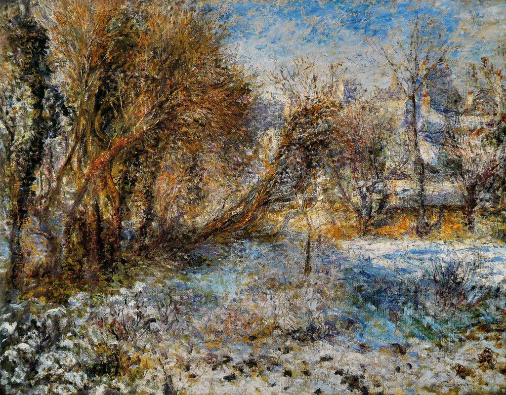 Renoir Paesaggio innevato 1875