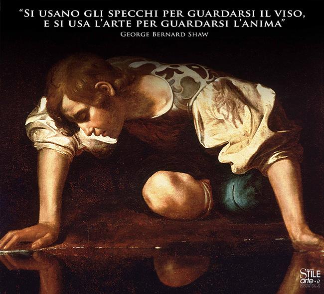 Caravaggio, Narciso, olio su tela, 1597–1599