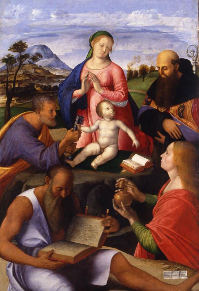 Alvise Vivarini, Madonna con il bambino e santi, 1500, Amiens, Musée de Picardie