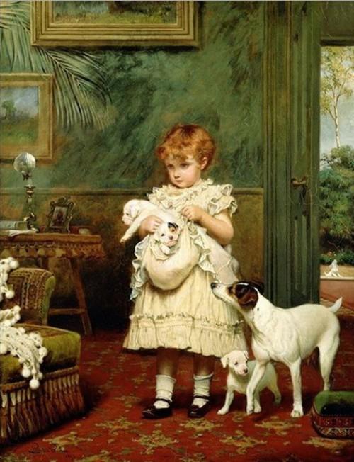Extrêmement Burton Barber, il massimo pittore di bambini con cagnolini e  CD42