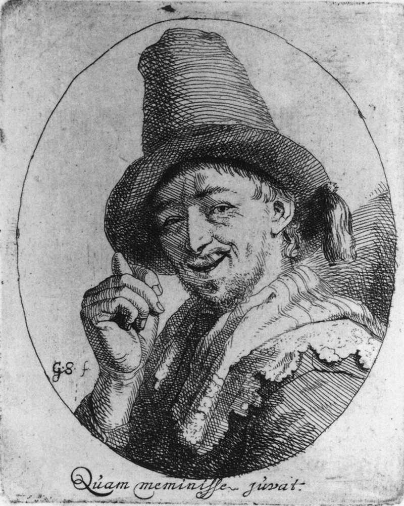 Godfried Schalcken, Uomo che fa il gesto delle fiche