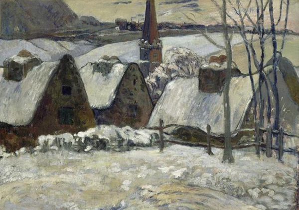 gauguin-village bretone sotto la neve