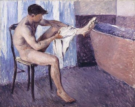 gustave caillebotte nudo maschile
