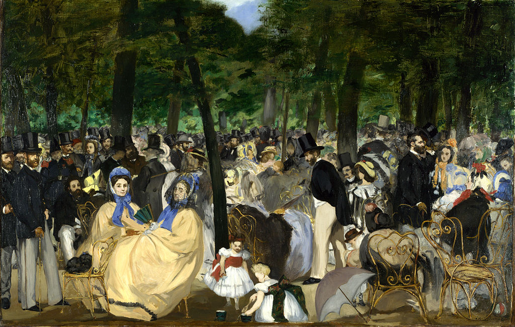 renoir manet musica alle Tuileries