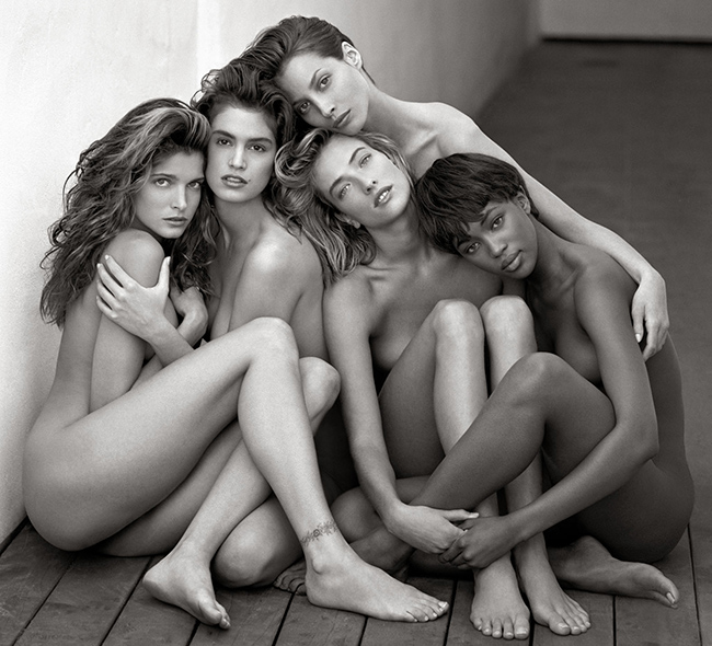 Stephanie, Cindy, Cristy, Tatjana, Naomi, Hollywood 1989 © Herb Ritts Foundation