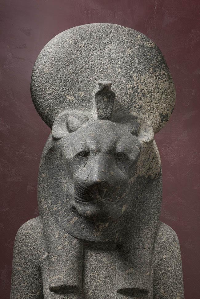 Statue di Sekhmet da Tebe Karnak Tempio di Amenhotep III (riempiegate nel Tempio di Mut?) Diorite, Nuovo Regno / XVIII dinastia, Amenhotep III (1388 – 1351 a.C.) Torino, Museo Egizio