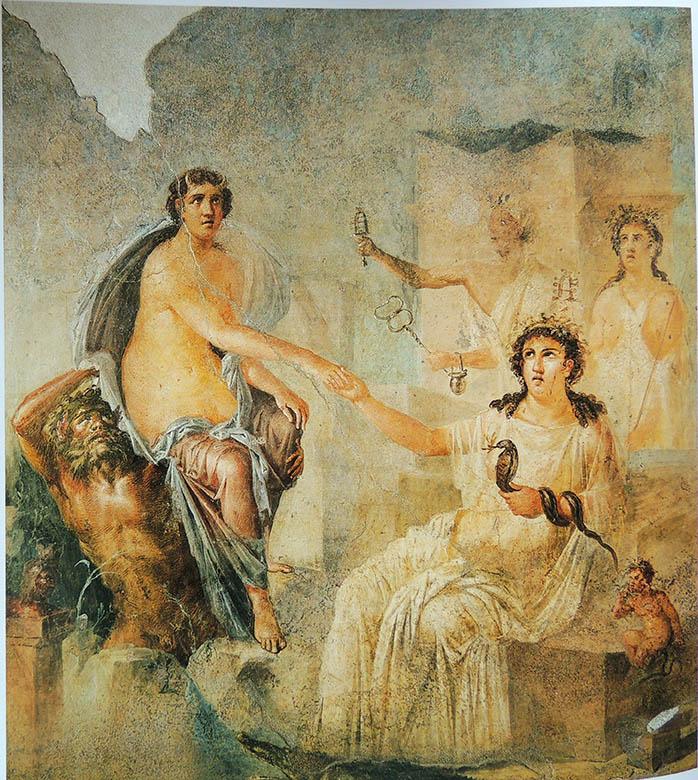 """""""Il Nilo a Pompei"""" Iside a Canopo Affresco su intonaco Soprintendenza Pompei, tempio di Iside"""