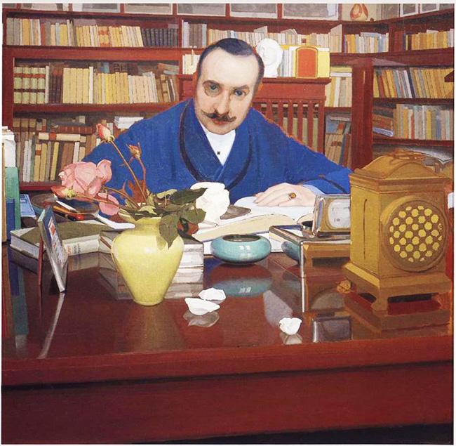 Oscar Ghiglia, Ugo Ojetti nello studio