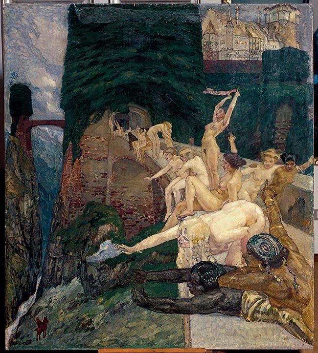 Leo Putz Parsifal, 1900 Olio e tempera su tavola, 155 x 138 cm Collezione Siegfried Unterberger Courtesy Archivio Sigfried Unterberger