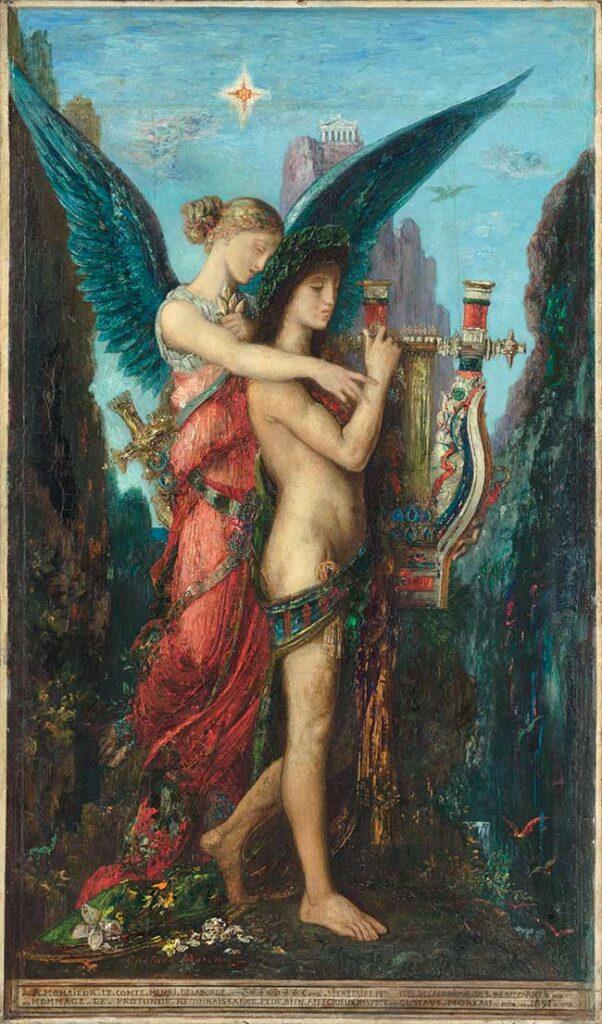 Gustave Moreau Esiodo e la Musa, 1891 Olio su tavola, 59 x 34,5 cm Parigi, Musée d'Orsay © RMN / Hervé Lewandowski / RMN ‐ Réunion des Musées Nationaux / distr. Alinari