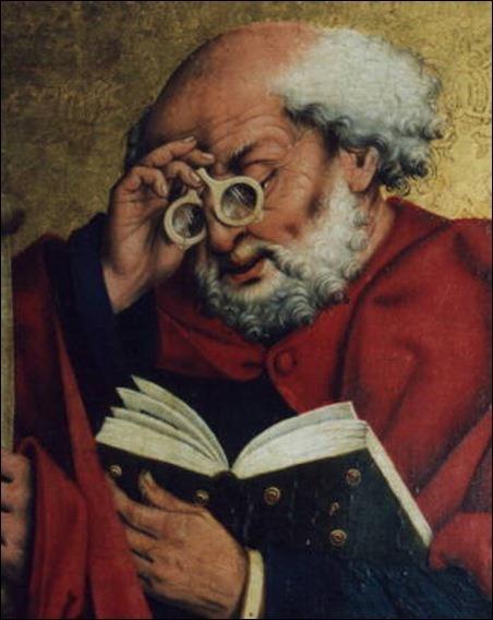 occhiali Friedrich Herlin St Pierre nel 1466