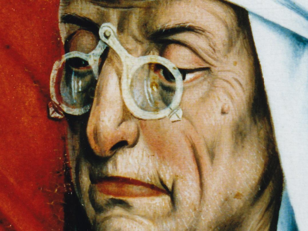 Friedrich Herlin, La circoncisione di Cristo, 1466, (particolare) Polittico di Rothenburg, Germania