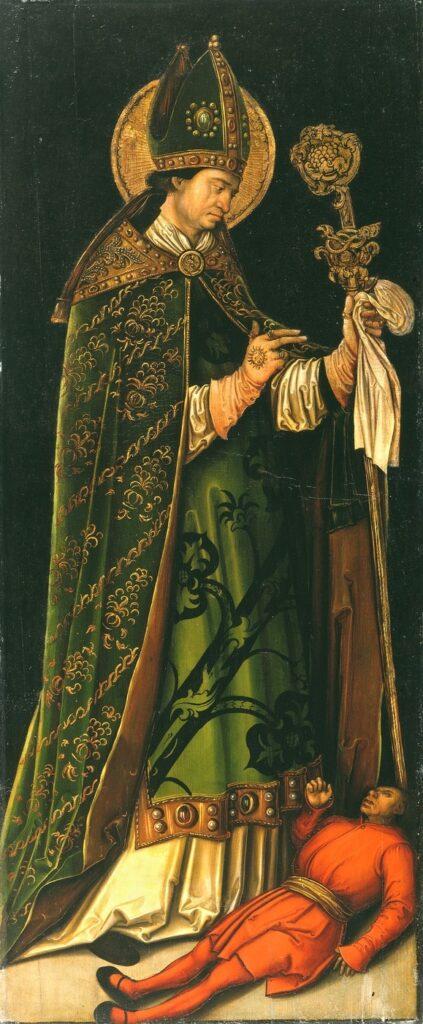 Leonhard Beck, San Valentino e le'epilettico, 1510 circa