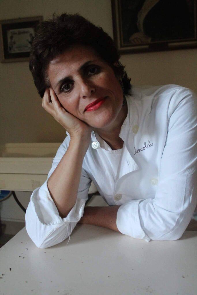 Luisa Spagnoli nel suo laboratorio, marzo 2016