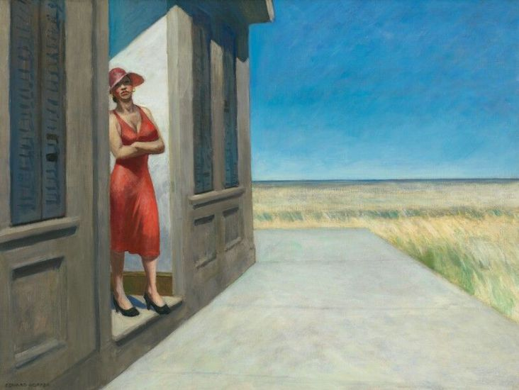 Edward Hopper, South Carolina Morning - 1955, Oil on canvas - © Heirs of Josephine N. Hopper, licensed by the Whitney Museum of American Art