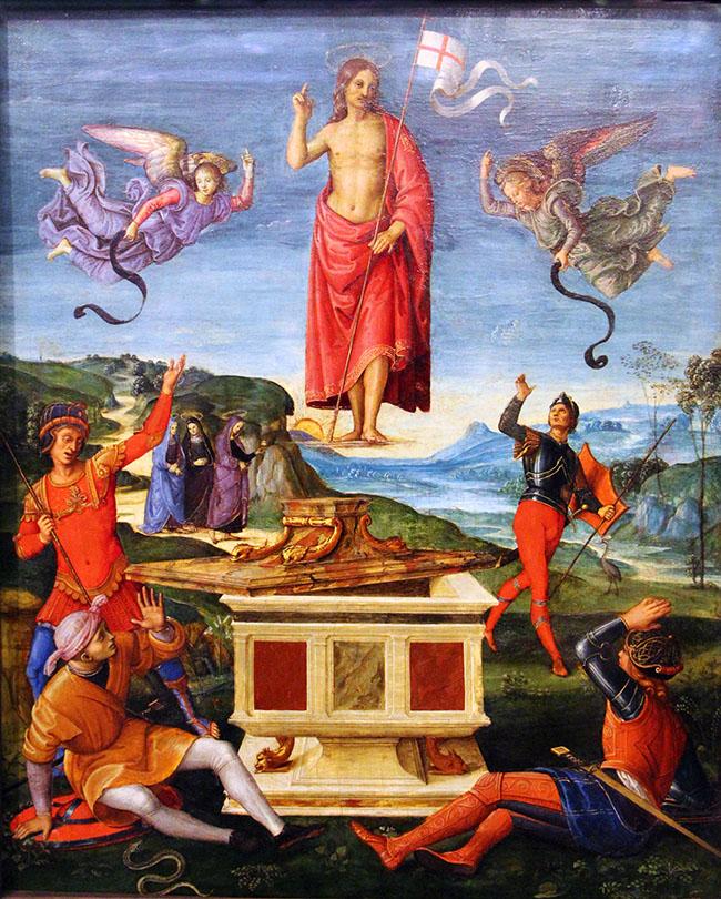 Raffaello, Resurrezione di Cristo, 1499-1502 ca