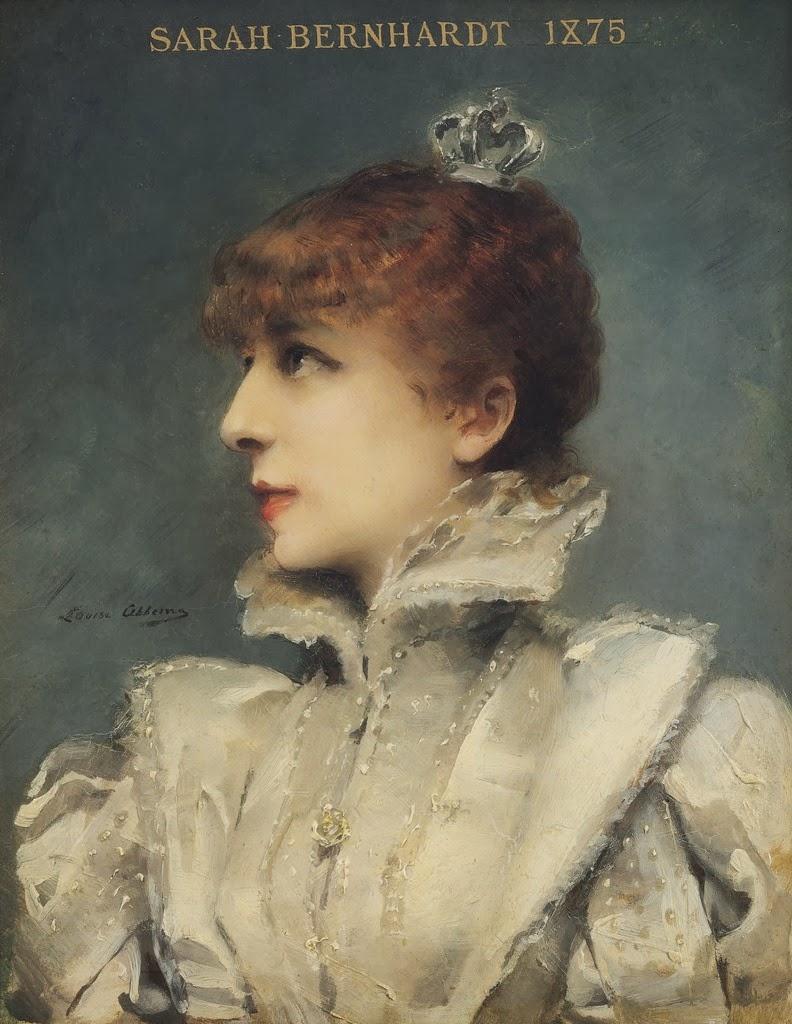 Sarah ritratta, nel 1875, dalla giovane pittrice a amante Louise Abbema