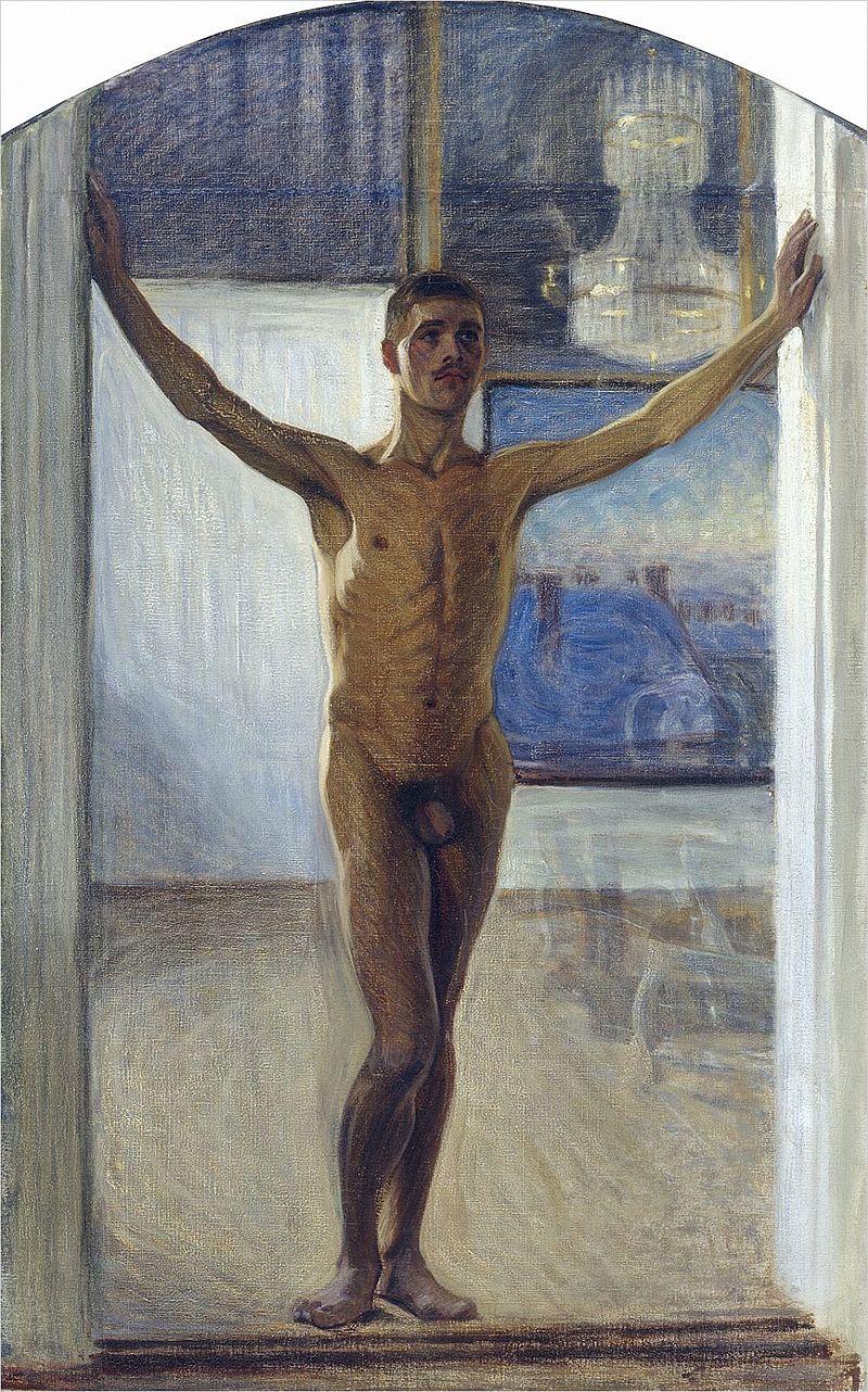 a piscina 3 nudo giovanile 1907