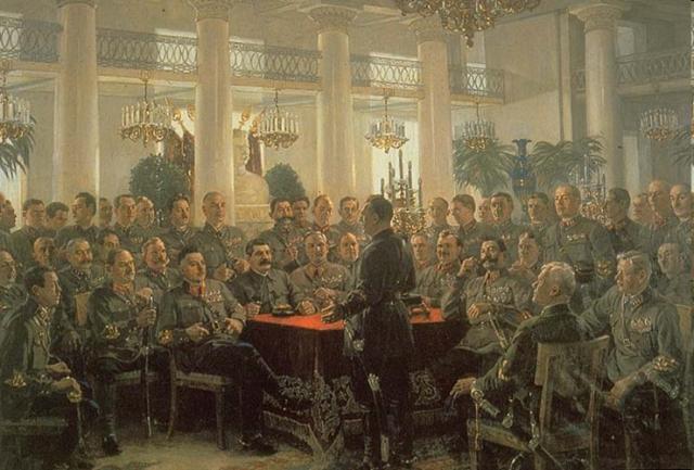 Alexandre Guerassimov, Stalin a una riunione