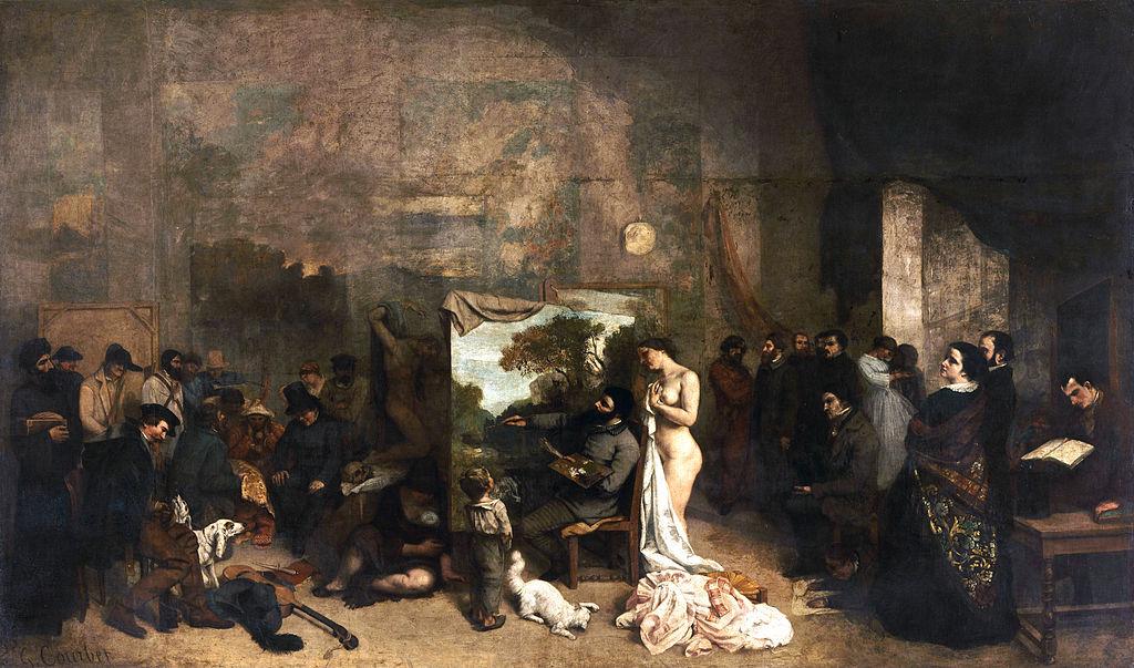 baudelaire Courbet_LAtelier_du_peintre