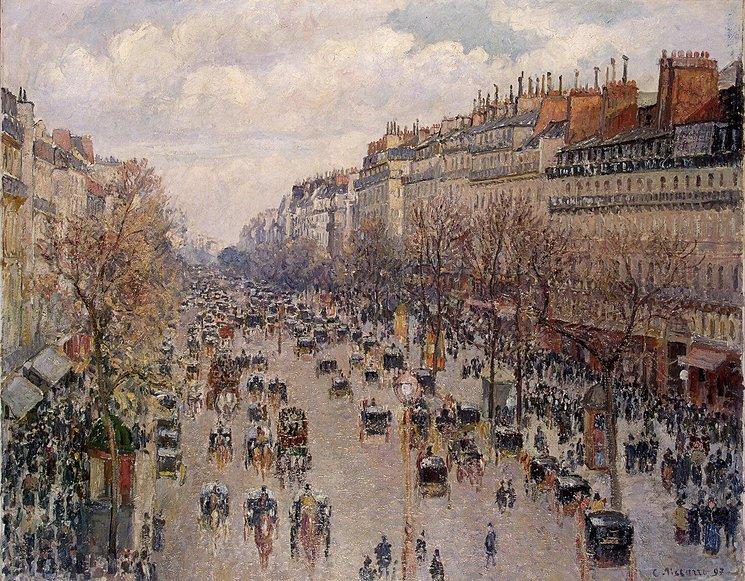 pissarro_Boulevard-Monmartre-in-Paris
