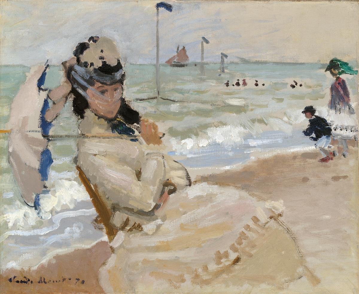 Claude Monet, Camille sulla spiaggia di Trouville