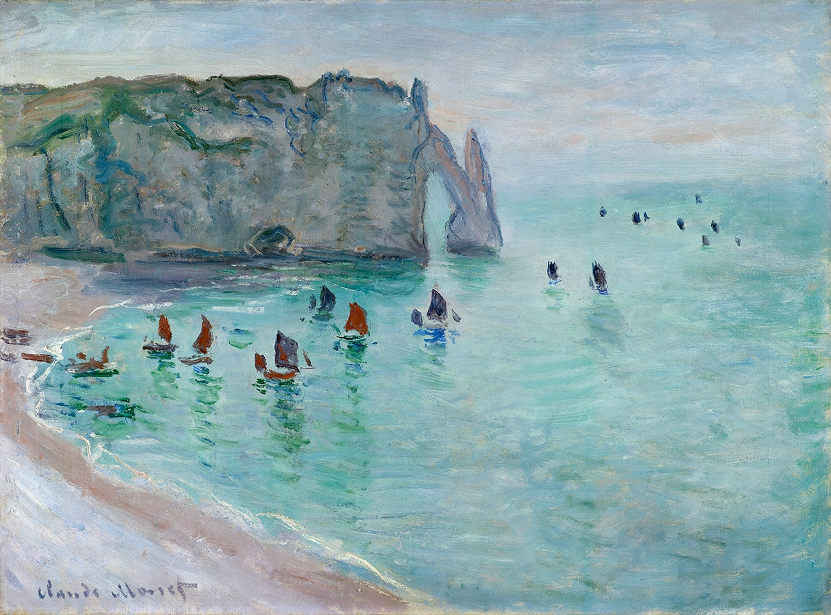 Claude Monet, Etrat: port d'Aval