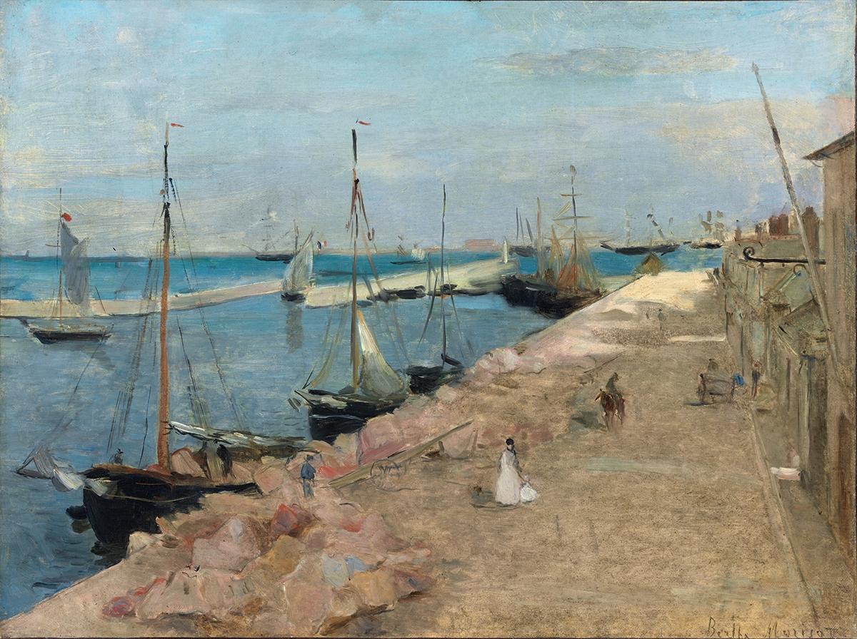 Berthe Morisot, Porto di Cherbourg