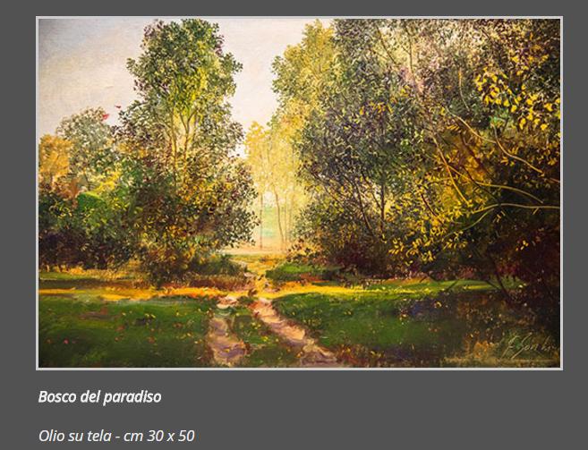 8 Bosco del Paradiso, olio su tela, cm.30 x 50